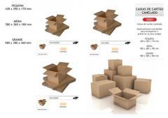 Caixas de papel canelado