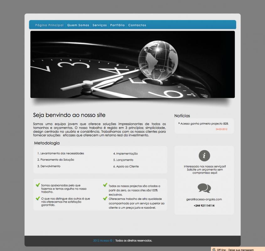 Encomenda Desenvolvimento de websites