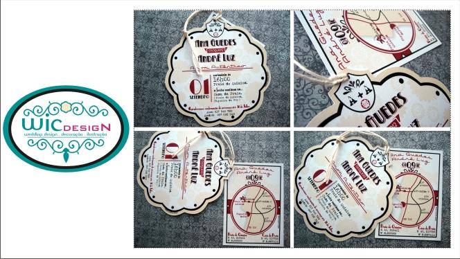 Encomenda Convites de Casamento . design personalizado