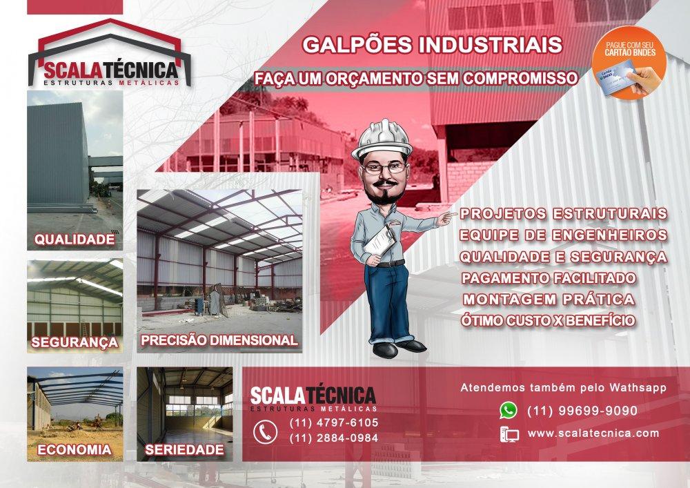 Encomenda Construções de Galpões industriais