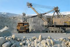 A mineração de diamantes