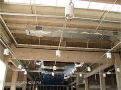 Execução de instalação com sprinkler, hidrantes e detecção